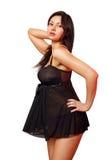 Mulher no peignoir Imagem de Stock