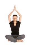 Mulher no Pose da ioga foto de stock