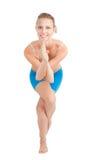 Mulher no pose flexível da ioga imagem de stock royalty free