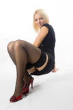 Mulher no pose 'sexy' Fotos de Stock Royalty Free