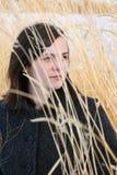 Mulher no prado Fotos de Stock Royalty Free