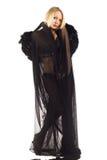 Mulher no preto Fotos de Stock Royalty Free