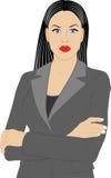 Mulher no revestimento Fotografia de Stock Royalty Free