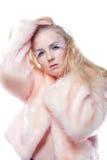 Mulher no revestimento do inverno Foto de Stock