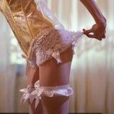 Mulher no roupa interior laçado Foto de Stock Royalty Free