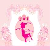 Mulher no salão de beleza ilustração do vetor