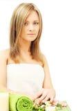 Mulher no salão de beleza de beleza Foto de Stock Royalty Free