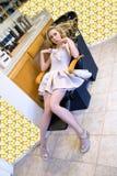 Mulher no salão de beleza do cabelo Foto de Stock Royalty Free