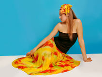 Mulher no sarong 3 imagem de stock royalty free