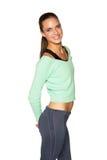 Mulher no sportswear foto de stock royalty free