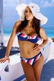 Mulher no Swimsuit Fotografia de Stock Royalty Free
