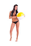 Mulher no swimwear Foto de Stock Royalty Free