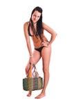 Mulher no swimwear Fotos de Stock