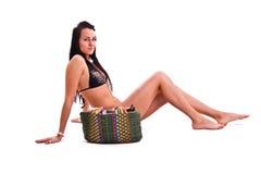 Mulher no swimwear Imagens de Stock Royalty Free