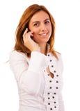 Mulher no telefone imagens de stock