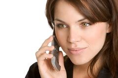 Mulher no telefone Fotografia de Stock Royalty Free