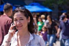 Mulher no telefone Imagem de Stock Royalty Free