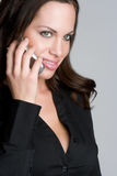 Mulher no telefone de pilha Foto de Stock Royalty Free