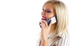 Mulher no telefone móvel Foto de Stock