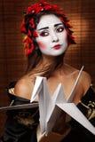 Mulher no traje oriental tradicional Foto de Stock Royalty Free