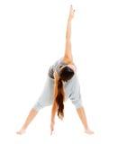 Mulher no treinamento do sportswear imagens de stock royalty free