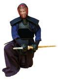 Mulher no uniforme do kendo Fotos de Stock Royalty Free