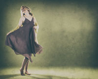 Mulher no verde Imagem de Stock Royalty Free