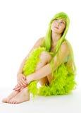 Mulher no verde Imagem de Stock