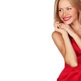Mulher no vermelho Fotos de Stock Royalty Free