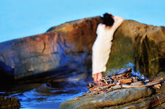 Mulher no vestido branco Fotografia de Stock Royalty Free