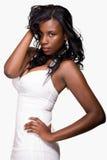 Mulher no vestido branco Imagens de Stock Royalty Free