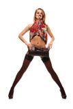 Mulher no vestido da cor Imagens de Stock