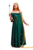Mulher no vestido da rainha Fotos de Stock Royalty Free