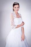 Mulher no vestido de casamento Fotografia de Stock