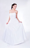 Mulher no vestido de casamento Foto de Stock Royalty Free