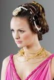 Mulher no vestido do estilo de Veneza Imagens de Stock Royalty Free