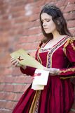 Mulher no vestido do renascimento fotografia de stock royalty free