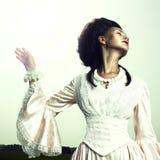 Mulher no vestido do vintage Imagem de Stock