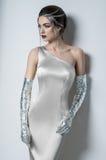Mulher no vestido leve minúsculo imagens de stock royalty free