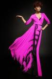 Mulher no vestido longo Imagem de Stock Royalty Free