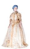 Mulher no vestido medieval Foto de Stock Royalty Free