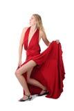 Mulher no vestido vermelho Foto de Stock Royalty Free