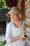 Mulher no vestuário desde 1700 s Fotografia de Stock Royalty Free