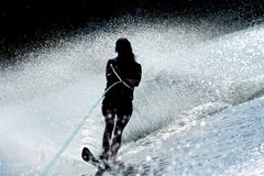 Mulher no waterski Fotos de Stock Royalty Free