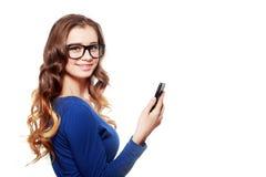 Mulher nos eyeglasses imagem de stock