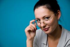 A mulher nos pontos Fotos de Stock Royalty Free