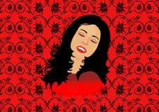 Mulher nos sonhos Fotos de Stock Royalty Free