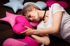 Mulher nos sonhos Imagens de Stock