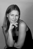 Mulher nova à moda do retrato Foto de Stock Royalty Free