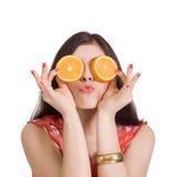 Mulher nova alegre Imagens de Stock Royalty Free